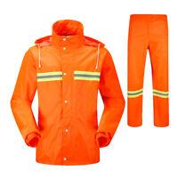Reflective Waterproof Oversized RAIN SUIT Jacket&Pant Biker Rainwear Overall Set