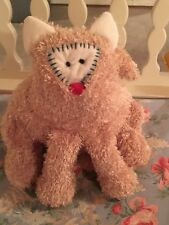 "STITCHES ~ Plush Tan Cat by Lynsey Paterson ~ 9"" ~ So Cute!"