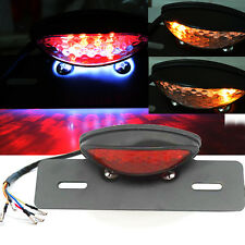 Red LED Motorcycle Turn Signal Brake License Plate Integrated Tail Light 12V