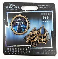 Hades Disney Designer Collection Midnight Masquerade Pin Set Villians 6/6 LE