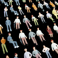 100 pcs. 1:72 Figures Diorama 1/72 Miniature Human Figures Standing People 1/76