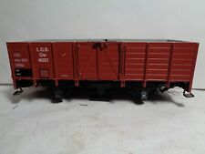 LGB G SCALE #4021 GONDOLA WITH #5005 TRACK CLEANING ATTACHMENT ADDED ON