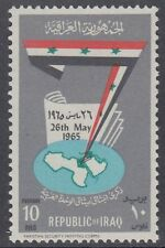 Irak Iraq 1965 ** Mi.415 Landkarte Map Flagge Flag