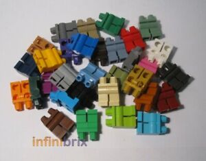 Lego Plain Legs 73200 Black White Brown Red Blue Grey Tan MIX ANY COLOURS +SAVE!