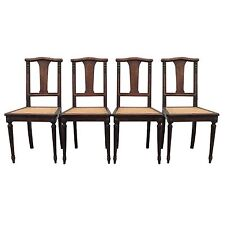 French Antique Dining Chairs with Cane seats