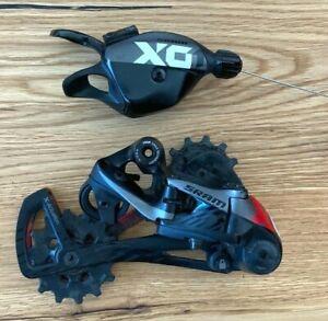 SRAM X01 Eagle Upgrade Kit 1x12 | Trigger und Schaltwerk | lunar-grau/rot