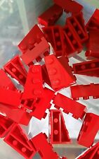 LEGO 10 Bricks Red Wedges 3 x 2 Left & Right