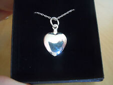 Solid Silver Cremation Memorial Urn Heart Pendant Necklace Ashes Keepsake Love
