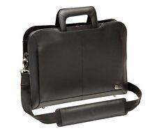 "Genuine Original DELL Executive Leather Attache Laptop Case Bag 14""  9KK46 Used"