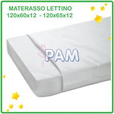 MATERASSO LETTINO BAMBINO ANTIACARO ANTISOFFOCO CULLA 120X60X12 CM
