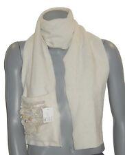 ECHARPE avec poche femme RUE du BAG made France polaire blanc ivoire hiver white