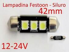 Lampadina Festoon siluro 42mm tuning g4 faretto 12-24V camper pullman citofono