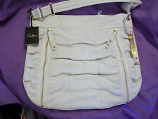 NWT COLE HAAN DESIGNER HANDBAG IVORY SOFT LEATHER Pocket Hobo W/Sleeper Bag