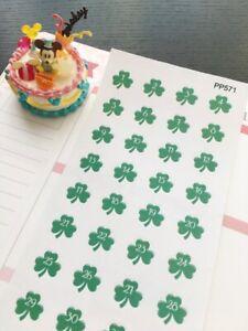 S571-St. Patrick's Day Clover Shamrock: Life Planner Stickers for Erin Condren