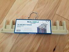 New Real Simple 20 Tie & Belt Hanger Non-Slip Velvet Covering