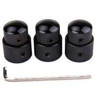 3pcs Black Electric Guitar Volume Control Knob Tone Stacked Dual Concentric Knob