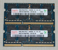 8 GB 2x4gb ddr3 pc3 10600 computadora portátil 1333 MHz 204-pin Sodimm RAM upgrade kit