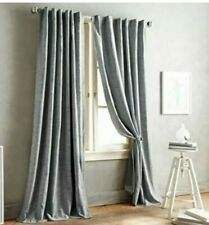 "DNKY Front Row Curtain Panel Charcoal Gray 84"" Back Tab 1 Panel"