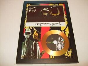 daft punk   SIGNED  GOLD DISC