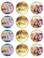 "12 WINX CLUB KOPYKAKE 2"" CUPCAKE EDIBLE ICING IMAGE CAKE TOPPERS #2"