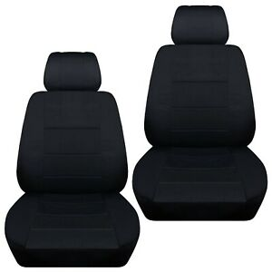 Front set car seat covers fits Nissan Sentra 2002-2020  solid black