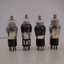4 LAMPES TUBES 2A7 2B7 VISSEAUX RADIO
