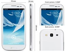 Blanc Samsung S3 Style 9300 3 G GSM Dual 2 Sans SIM 16 Go Android 4.1 Smartphone