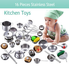 16 PCS Kid Child Pretend Role Play Kitchen Accessory Toy food Set Cooking Gift