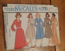 VINTAGE MCCALLS 1978 LADIES BELTED DRESS PATTERN 6209 SIZE 12-16 FREE SHIPPING
