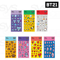 BTS BT21 Official Authentic Goods Jelly Sticker 7SET by Kumhong +Tracking #