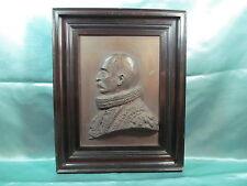 antike  Plakette Bronze Wand Relief Bild 1912,Hamburger Amtmann?