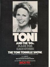 The Toni Tennille Show 1980 Ad- conversation comedy music/MCA