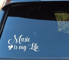 MUSIC is my Life window car truck decal sticker 3.5x7