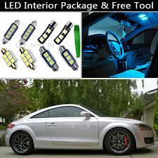 10PCS Canbus Ice Blue LED Interior Lights Package kit Fit 08-2012 Audi TT MK2 J1