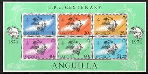Anguilla 1974 U.P.U. Centenery MNH mini sheet M.S. 194