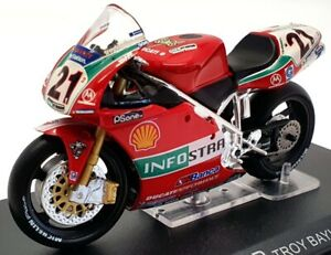 IXO Models 1/24 Scale Motorcycle IX2603C - 2001 Ducati 996R Troy Bayliss