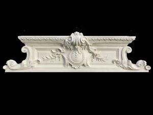 Magnifique, grand fronton, dessus de porte, style XVIIIe. L. 115 cm