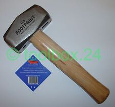 Genuine FOOTPRINT Heavy Duty Hickory Handle Club Lump Hammer 1.8kg / 4lb