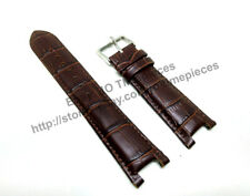 22mm Brown Leather watch band strap Comp Guess Collection GC GCI45003G1 I45003G1