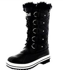 Ploar Nylon Fur Cuff Snow Boots Women's Size 10, Black