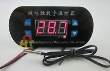 DC/AC 12V Heat Cool Thermostat High Low Temperature Alarm Controller -55-120°C