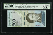 2016 Venezuela Banco Central 500 Bolivares PickUnlisted PMG 67EPQ Superb Gem UNC