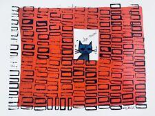 "Andy Warhol So Meow 1958 Cat Pop Art Print Poster Lithograph Warhol 11x14"" MINT"