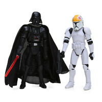 LOT DE 2 FIGURINES STAR WARS DARK VADOR CLONE TROOPERS 10 CM