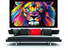 street art australia print CANVAS RAINBOW LION CAT 150cm x 100cm painting