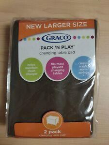 Graco Pack 'N Play Changing Table Pad (2-pack) Arden Brown New & Sealed