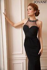 Vestido de Jersey Cuello Jovani 92976A
