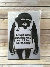 "Stretched Planet of the Apes Canvas Print by Banksy Graffiti Wall Art 8""x12"""