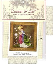 Lavender & Lace Cross Stitch Chart & Mill Hill Bead Pack ~ ISABELLA'S GARDEN #63