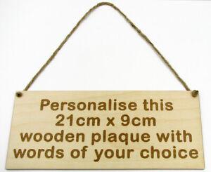 Personalised Wooden Sign Plaque Wall Door Hanging Gift Idea Custom Bespoke Made